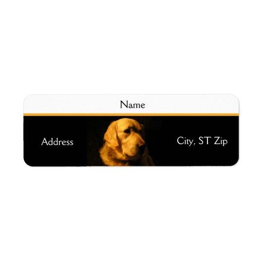 Golden Retriever Portrait Address Label
