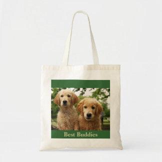 Golden Retriever Pup Buddies Tote Bag