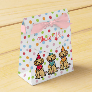 Golden Retriever Puppies Birthday Favor Box