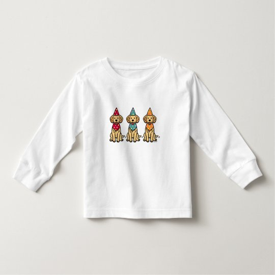 Golden Retriever Puppies Birthday Toddler T-shirt