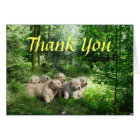 Golden Retriever Puppies Thank You Card