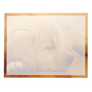 Golden Retriever Puppy Antoine Melancholy I Notepad