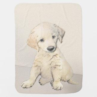 Golden Retriever Puppy Baby Blanket