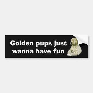 Golden Retriever Puppy Bumper Sticker