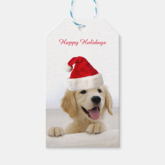 Golden Retriever Puppy Christmas Gift Tag