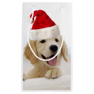 Golden Retriever Puppy Christmas Small Gift Bag
