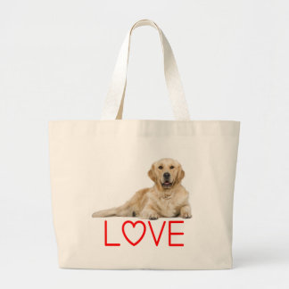 Golden Retriever Puppy Dog Canine Red Love Tote