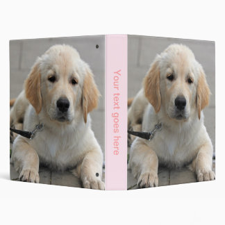 Golden Retriever puppy dog cute photo album, gift Vinyl Binders