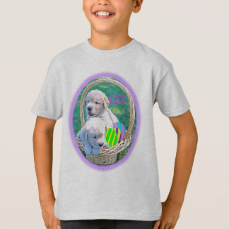 Golden Retriever Puppy Easter Basket T-Shirt