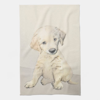 Golden Retriever Puppy Kitchen Towel