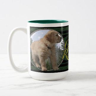 Golden Retriever puppy Two-Tone Mug