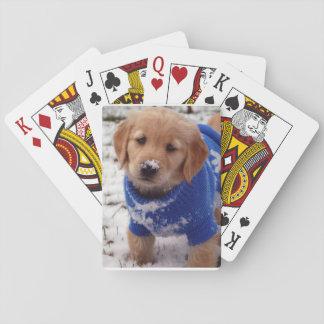 Golden Retriever Puppy Poker Deck