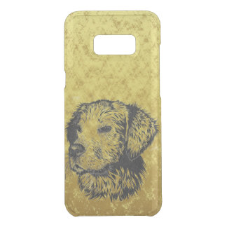 Golden retriever puppy portrait in black and gold uncommon samsung galaxy s8 plus case