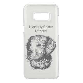 Golden retriever puppy portrait in black and white uncommon samsung galaxy s8 plus case
