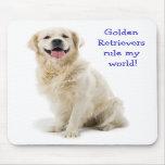 Golden Retriever Puppy Rule My World  Mousepad