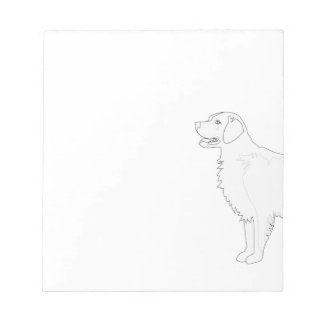 Golden Retriever Ready to Color Design Notepad
