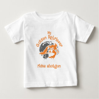 Golden Retriever Rides Shotgun Halloween Baby T-Shirt