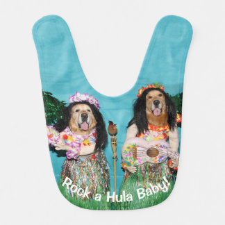 Golden Retriever Rock a Hula Baby Bib