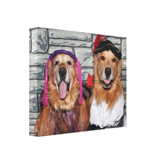 Golden Retriever Romeo and Juliet Canvas Print