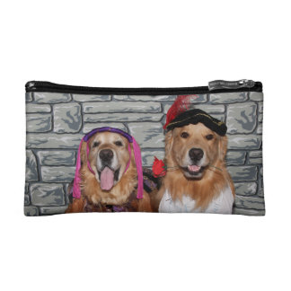 Golden Retriever Romeo and Juliet Cosmetic Bag