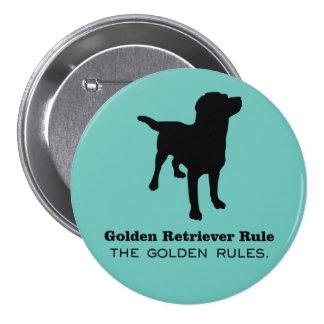 Golden Retriever Rule Round Button