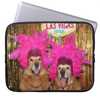 Golden Retriever Showgirls Laptop Sleeve