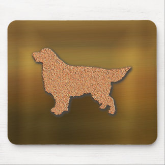 """Golden Retriever Silhouette in Brown"""" Mouse Pad"""