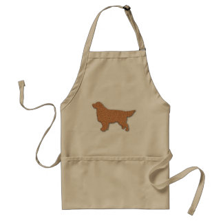 Golden Retriever Silhouette in Brown Standard Apron