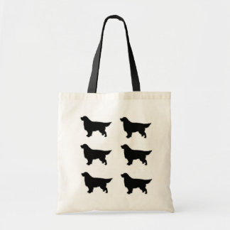 Golden Retriever Silhouette Tote Bag