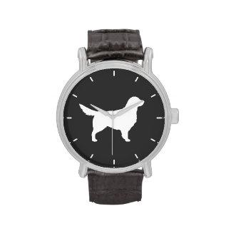 Golden Retriever Silhouette Wrist Watches