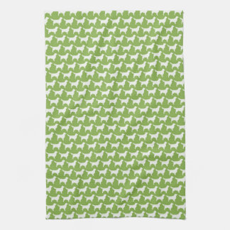 Golden Retriever Silhouettes Pattern Kitchen Towel