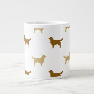 Golden Retriever Silhouettes Pattern Large Coffee Mug