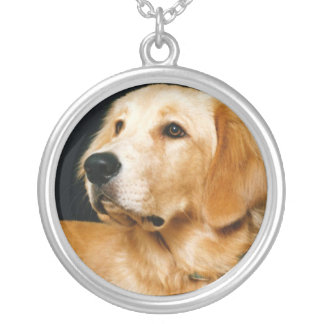 Golden Retriever Silver Plated Necklace