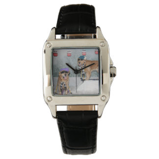 Golden Retriever Skiing Watches