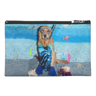 Golden Retriever Snorkeler Travel Accessories Bags