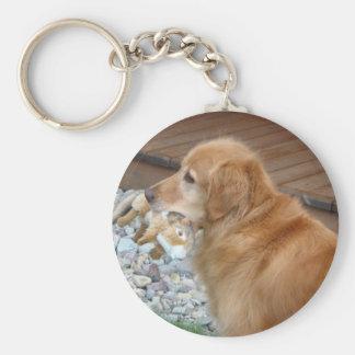 Golden Retriever Soulful Keychain