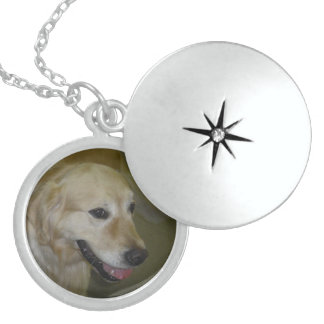 Golden Retriever Sterling Silver Necklace