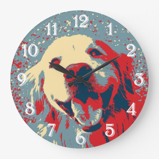 Golden Retriever Stylized Drawing Clocks