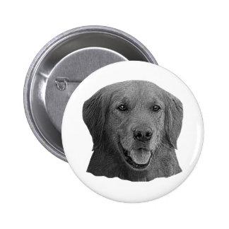Golden Retriever Stylized Image Pinback Button