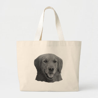 Golden Retriever Stylized Image Large Tote Bag