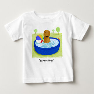 "Golden Retriever ""Summertime"" Baby T-Shirt"