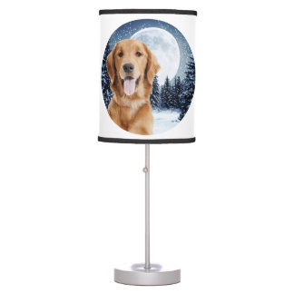 Golden Retriever Table Lamp