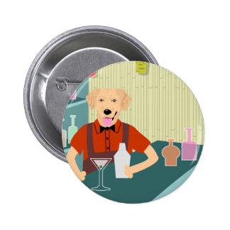 Golden Retriever Tiki Bar 2 Inch Round Button