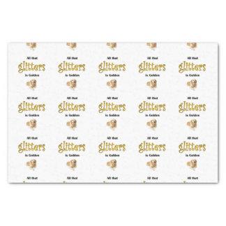 Golden Retriever Tissue Paper Gift, All Glitters