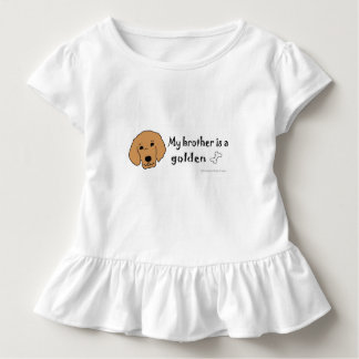 golden retriever toddler t-shirt