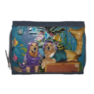 Golden Retriever Under the Sea Wallet