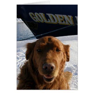 Golden Retriever Valentine Card