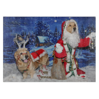 Golden Retriever Victorian Santa Christmas Boards
