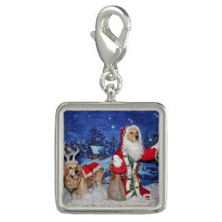 Golden Retriever Victorian Santa Christmas Photo Charms