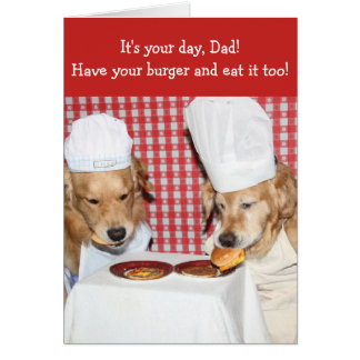 Golden Retriever Whopping Burger Father's Day Card